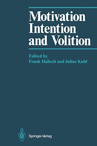 9783642709692: Motivation, Intention, and Volition