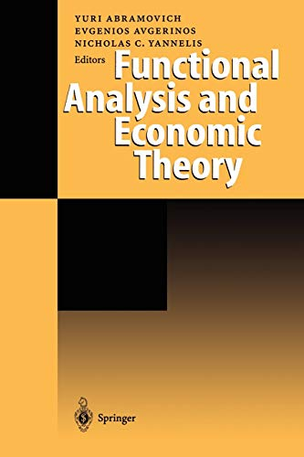 9783642722240: Functional Analysis and Economic Theory