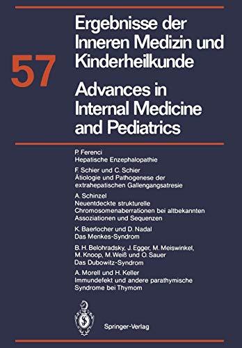 9783642735592: Ergebnisse der Inneren Medizin und Kinderheilkunde/Advances in Internal Medicine and Pediatrics: Neue Folge (Ergebnisse der Inneren Medizin und ... Advances in Internal Medicine and Pediatrics)