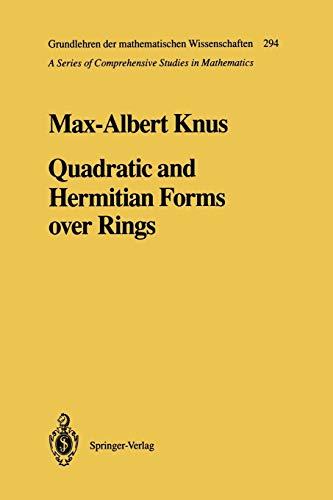 9783642754036: Quadratic and Hermitian Forms over Rings (Grundlehren der mathematischen Wissenschaften)