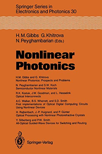 9783642754401: Nonlinear Photonics (Springer Series in Electronics and Photonics)