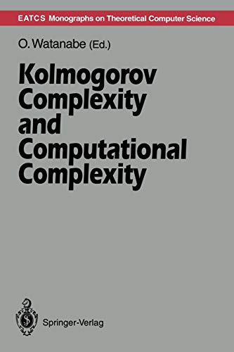 9783642777370: Kolmogorov Complexity and Computational Complexity (Monographs in Theoretical Computer Science. An EATCS Series)