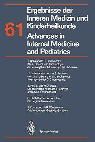 9783642781018: Ergebnisse der Inneren Medizin und Kinderheilkunde / Advances in Internal Medicine and Pediatrics: Neue Folge (Ergebnisse der Inneren Medizin und ... Advances in Internal Medicine and Pediatrics)