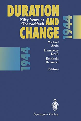 9783642785047: Duration and Change: Fifty Years at Oberwolfach