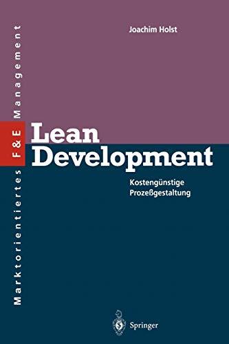 9783642786907: Lean Development: Kosteng�nstige Proze�gestaltung (Innovations- und Technologiemanagement)