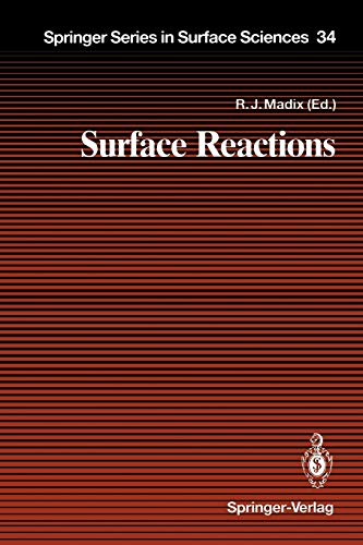 9783642787485: Surface Reactions (Springer Series in Surface Sciences)