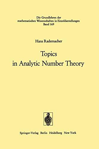 9783642806179: Topics in Analytic Number Theory (Grundlehren der mathematischen Wissenschaften)