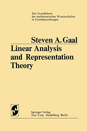 9783642807435: Linear Analysis and Representation Theory