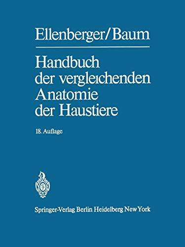 9783642808333: Handbuch der vergleichenden Anatomie der Haustiere (German Edition)