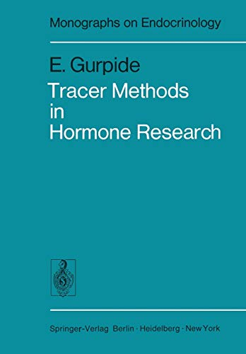 9783642808944: Tracer Methods in Hormone Research (Monographs on Endocrinology)