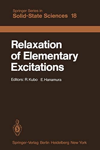 Relaxation of Elementary Excitations: Proceedings of the Taniguchi International Symposium, ...