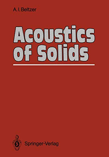 9783642833724: Acoustics of Solids
