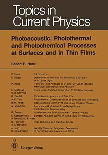 9783642839474: Photoacoustic, Photothermal and Photochemical Processes at Surfaces and in Thin Films (Topics in Current Physics)