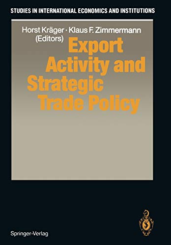 9783642846878: Export Activity and Strategic Trade Policy (Studies in International Economics and Institutions)