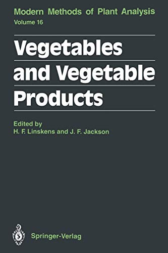 9783642848322: Vegetables and Vegetable Products (Molecular Methods of Plant Analysis)
