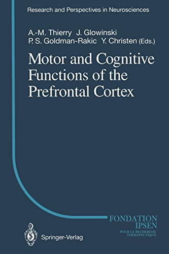9783642850097: Motor and Cognitive Functions of the Prefrontal Cortex (Research and Perspectives in Neurosciences)