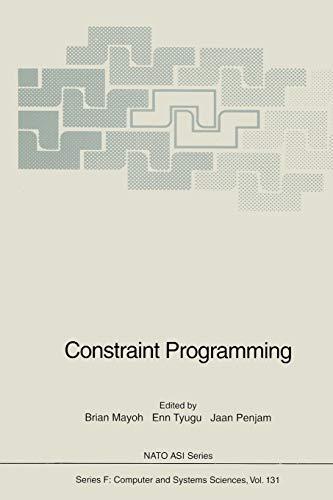 Constraint Programming: Brian Mayoh