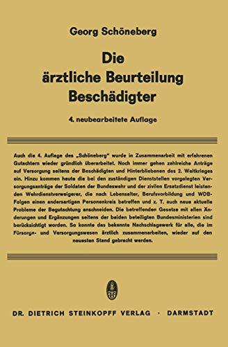 Die Ärztliche Beurteilung Beschädigter: Georg Schöneberg