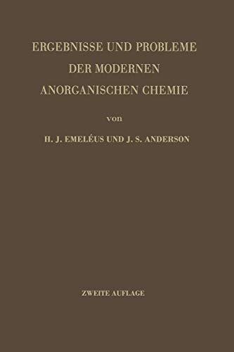 9783642866296: Ergebnisse und Probleme der Modernen Anorganischen Chemie (German Edition)