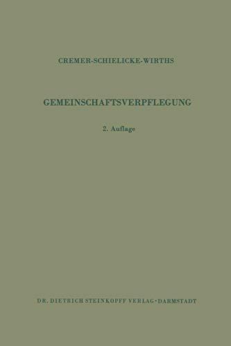 9783642868092: Gemeinschaftsverpflegung (German Edition)