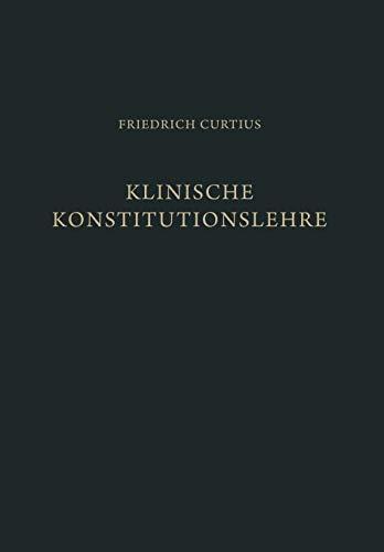 9783642871931: Klinische Konstitutionslehre (German Edition)