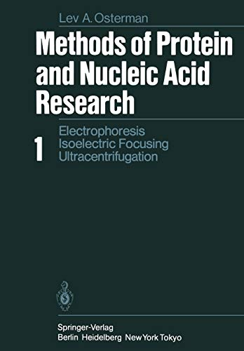 Methods of Protein and Nucleic Acid Research: L. A. Osterman