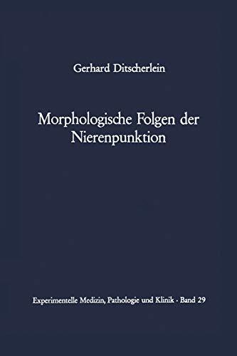 9783642875496: Morphologische Folgen der Nierenpunktion: Tierexperimentelle und Humanpathologische Befunde (Experimentelle Medizin, Pathologie und Klinik)