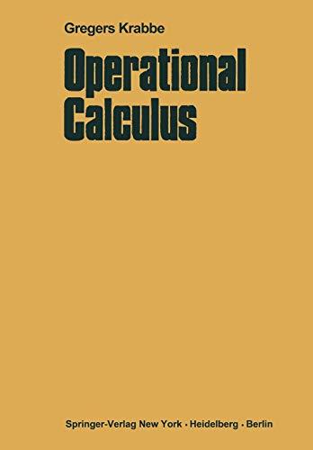 9783642877063: Operational Calculus