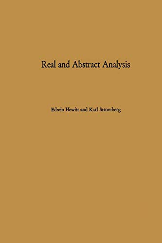 9783642880469: Real and Abstract Analysis: A modern treatment of the theory of functions of a real variable