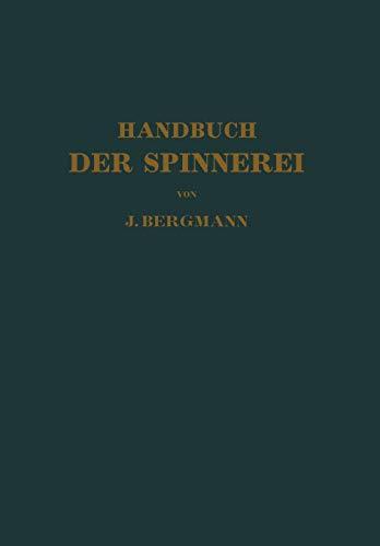9783642893957: Handbuch Der Spinnerei