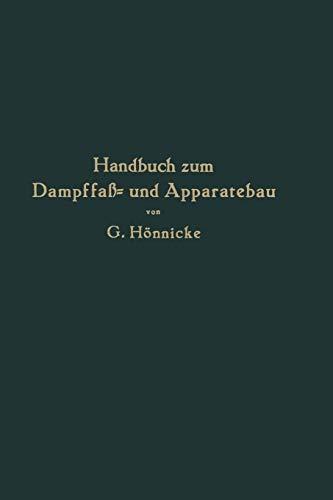 9783642898792: Handbuch zum Dampffaß- und Apparatebau