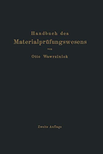 9783642905247: Handbuch des Materialprüfungswesens für Maschinen- und Bauingenieure (German Edition)