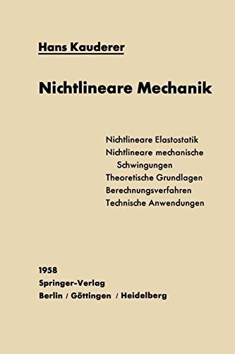9783642927348: Nichtlineare Mechanik (German Edition)