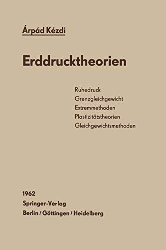 9783642928390: Erddrucktheorien (German Edition)