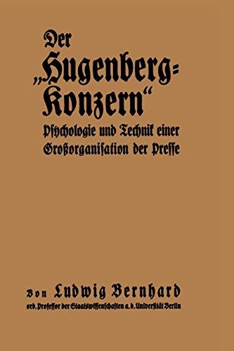9783642939204: Der Hugenberg-Konzern