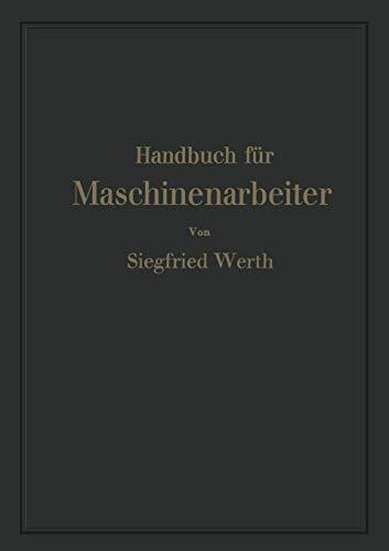 9783642941283: Handbuch für Maschinenarbeiter
