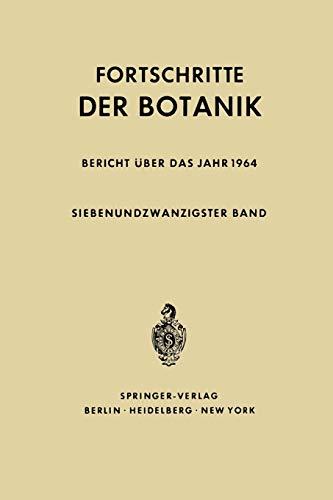 9783642949159: Fortschritte der Botanik (Progress in Botany)