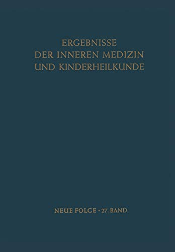 9783642950179: Ergebnisse der Inneren Medizin und Kinderheilkunde