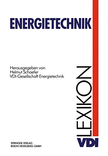 9783642957499: VDI-Lexikon Energietechnik (VDI-Buch)