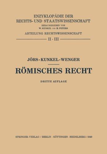 9783642964299: Römisches Recht: Römisches Privatrecht. Abriss des Römischen Zivilprozessrechts (German Edition)
