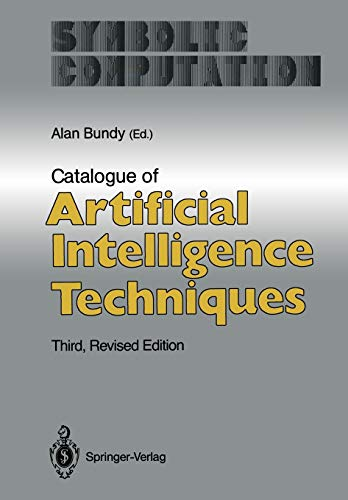9783642972782: Catalogue of Artificial Intelligence Techniques (Symbolic Computation)