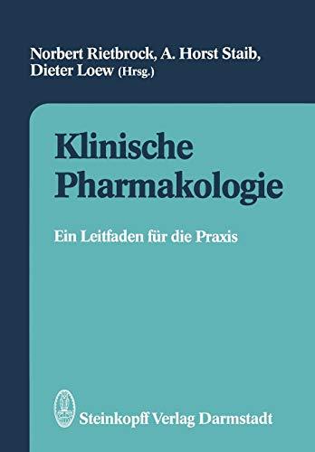 9783642977848: Klinische Pharmakologie: Ein Leitfaden f�r die Praxis