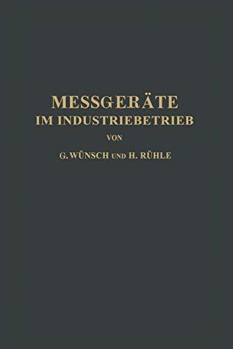 9783642981302: Messgeräte im Industriebetrieb (German Edition)