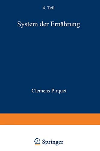9783642983238: System der Ernährung (German Edition)
