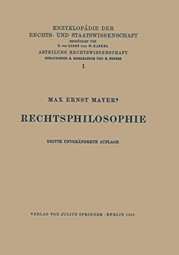 Rechtsphilosophie: Max Ernst Mayer