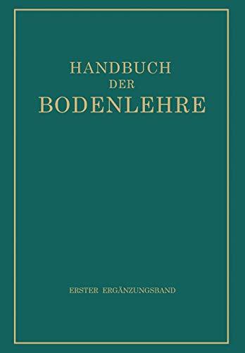 9783642988028: Handbuch der Bodenlehre (German Edition)
