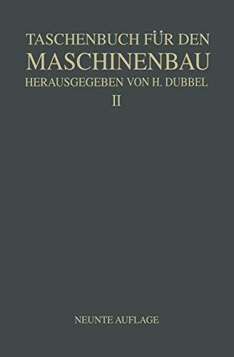 9783642988714: Taschenbuch für den Maschinenbau: Zweiter Band (German Edition)
