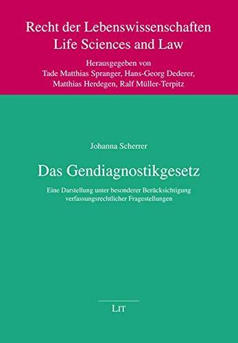 Das Gendiagnostikgesetz: Johanna Scherrer