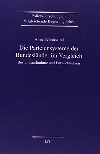 Die Parteiensysteme der Bundesländer im Vergleich: Aline Schniewind