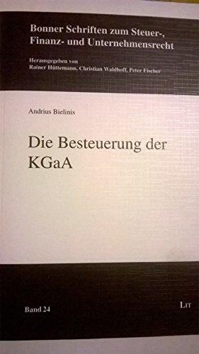 Die Besteuerung der KGaA: Andrius Bielinis
